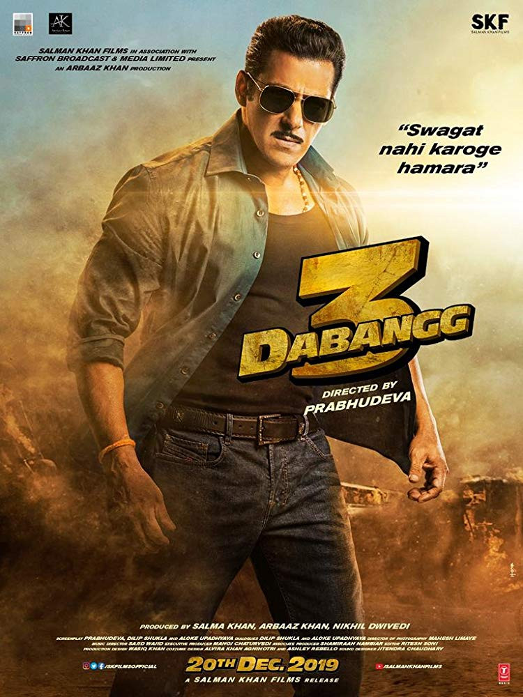 Dabangg 3 (2019) Hindi Movie 400MB DVDScr